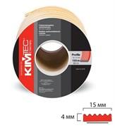 Уплотнитель KIM TEC для окон и дверей, профиль SD-84А/4, Черный, 15x8мм, самоклеящийся, упаковка 50м (на метраж)