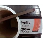 Уплотнитель KIM TEC для окон и дверей, профиль SD-31А/4, Черный, 8x2мм, самоклеящийся, упаковка 200м (на метраж)