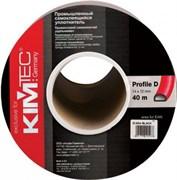 Уплотнитель KIM TEC для гаражных дверей и промышленных конструкций, D-профиль, 21x15мм, Черный, упаковка 50м (на метраж)