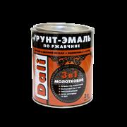 Грунт -эмаль по ржав.с молот.эффект. черная 2 кг DALI