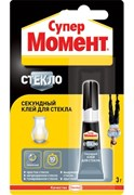 Клей СУПЕР МОМЕНТ 3г д/стекол ш/бокс