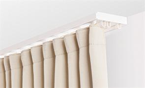 Карниз ПВХ д/штор (2-х рядный) белый 2,6м
