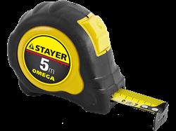 Рулетка  STAYER MASTER OMEGA, обрезиненный корпус, 5 м*25 мм - фото 10422