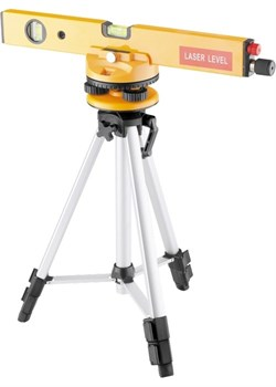 Уровень лазерный, 400 мм, 1050 мм штатив 3 глазка, набор (база, 2.линзы) в пласт. боксе MATRIX - фото 10547