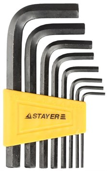Набор имбусовых ключей STAYER STANDARD 27405-H8, 2 - 10мм, 8 шт - фото 11376