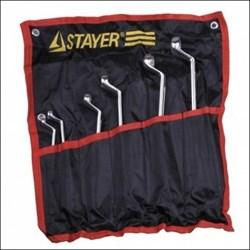 Набор STAYER 27151-H6 Ключи МАСТЕР накидные изогнутые, Cr-V, 6-22 мм, 6 предметов - фото 11404