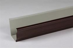 Желоб п/э коричневый 0.23*2м (квадрат) - фото 13856