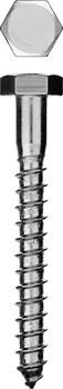 Шуруп глухарь (болт сантехнический) с шестигранной головкой оцинкованный 6х140мм - фото 15146