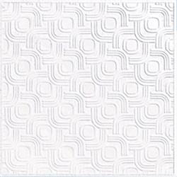 Плитка  потолочная прессованная Лагом 710, 50x50cм, белая, упаковка 8шт. (2м2) - фото 17043