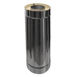 Сэндвич - труба оцинкованная + нержавеющая сталь (0.5мм) длина 0.5м диаметр 200*115 - фото 20552