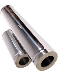 Сэндвич - труба оцинкованная + нержавеющая сталь (0.5мм) длина 1м диаметр 250*130 - фото 20559
