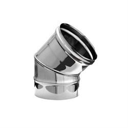 """Колено нержавеющая сталь """" Люкс"""" 1мм,  диаметр 120 угол 45* - фото 20629"""
