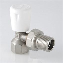 Клапан ручной для радиатора угловой 1/2 - фото 20827