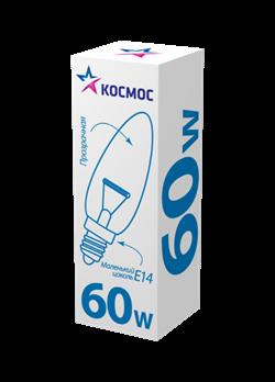 Лампа Космос Сеча Позрачная 60W E14 - фото 20944