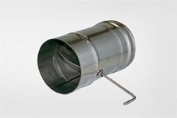 Задвижка ( шибер нержавеющая сталь 0.5мм) диаметр 110 поворотная - фото 21167