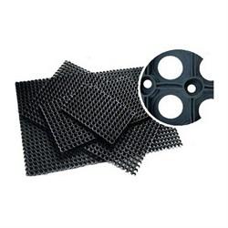 Коврик ячеистый грязесборный RH 50*100см, 16мм, черный - фото 21480