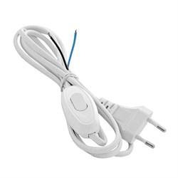 Шнур с электрический с вилкой и проходным выключателем 1.7м (ШВВП-ВП 2х0.75) белый UNIVersal А1060 - фото 22066