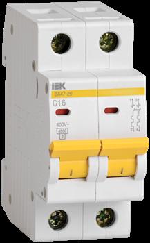 Автоматический выключатель ВА 47-29  25А/ 2П - фото 22515