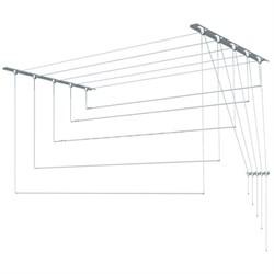 Сушилка настенно-потолочная Лиана для белья, 1.3м, 5 линий, белая - фото 28875