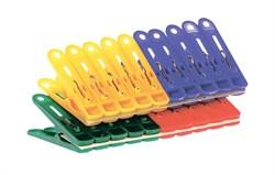 Прищепки бельевые пластиковые ЭКОНОМИК, 5x1.2см, набор 20шт - фото 28886