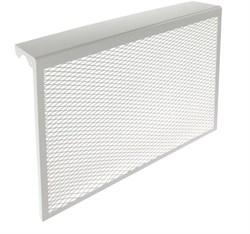 Экран-отражатель навесной декоративный, 600x680x140мм, 7 секций, металлический, белый - фото 30497