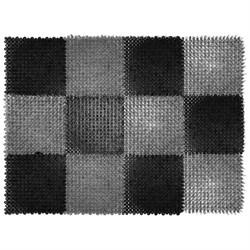 Коврик-травка входной грязезащитный 420x560мм, пластиковый, черно-серый - фото 31609