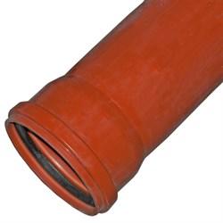 Труба канализационная 110x2000мм, наружная, НПВХ, оранжевая - фото 33069