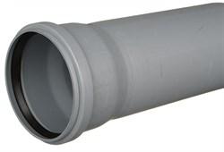 Труба канализационная 110x2.2x1500мм, внутренняя, полипропиленовая, серая - фото 33079