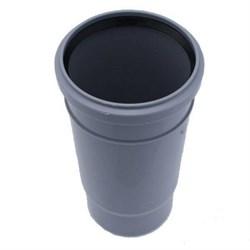 Патрубок компенсационный, 110мм, для внутренней канализации, серый - фото 33100