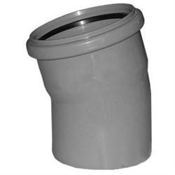 Отвод канализационный 110мм 15 градусов, внутренний, полипропиленовый, серый - фото 33110