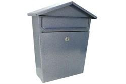 Ящик почтовый ДОМИК VIP, 350x270мм, серебро, с замком - фото 48065