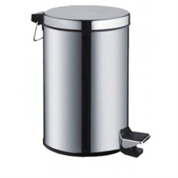 Ведро для ванной метал,хром 12 л - фото 6359