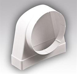 Соединитель 90° прямоугольного воздуховода 60х120 с круглым D100мм - фото 6663