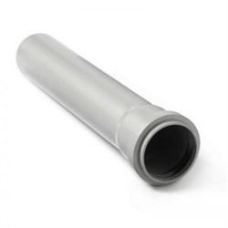 Труба канализационная 50x1.8x1000мм, внутренняя, полипропиленовая, серая - фото 6745