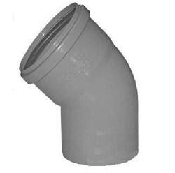 Отвод канализационный 110мм 45 градусов, внутренний, полипропиленовый, серый - фото 6764