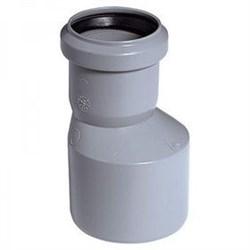 Патрубок переходный эксцентрический, диаметр 32x50мм, для внутренней канализации, полипропиленовый, серый - фото 6780