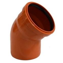 Отвод канализационный 110мм 87 градусов, наружный, полипропиленовый, оранжевый - фото 6805