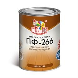 Эмаль ПФ-266 желто-коричневая алкидная 0,9 кг OLEKOLOR - фото 8381