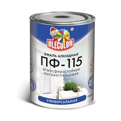 Эмаль ПФ-115 бирюза алкидная 1,8 кг OLECOLOR - фото 8402