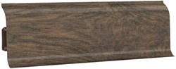 Плинтус напольный ПВХ Decoplast МК-6014, 60x25x2500мм, с кабель-каналом, мягкий край, глянцевый, Дуб мокко - фото 8978