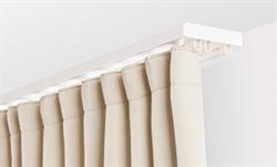 Карниз ПВХ д/штор (2-х рядный) белый 1,6м - фото 9246