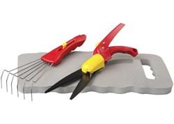 Набор GRINDA садовый, 3 предмета: ножницы дя стрижки травы, подколенник, грабельки - фото 9532
