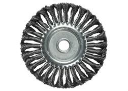 Щетка для УШМ 100 мм, посадка 22,2 мм, плоская, крученая металлическая проволока MATRIX