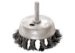 """Щетка для дрели, 75 мм, """"чашка"""" со шпилькой, крученая металлическая проволока MATRIX"""