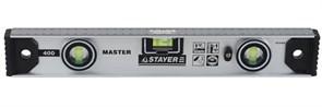 Уровень-рельс  STAER MASTER двутавровый, 3 глазка, 120см