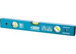 Уровень алюминиевый усиленный, 400 мм, толщина проф. 2 мм, 3 глазка GROSS
