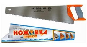 Ножовка столярная серии «Премиум». Длина полотна 500 мм, шаг зуба 8 мм