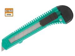 Нож DEXX с сегментированным лезвием, 0909, инструментальная сталь Ст60, пластиковый корпус, 18 мм