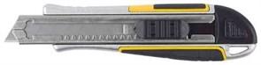 Нож STAYER PROFI 09146 обрезиненная рукоятка Super Grip,метал. корпус,автостоп,допфиксатор,кассета на 6 лезвий,18мм