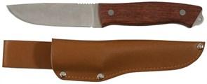 Нож Туриста нержавеющая сталь, деревянная ручка лезвие 105мм